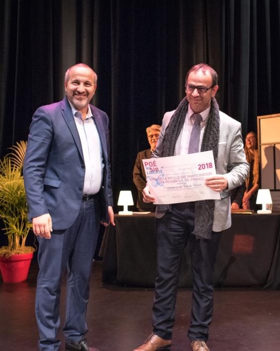 Rabah Kaabeche et Saïd Benhamana, Directeur représentant le CFA Compagnons du Tour de France - Saint-Thibault-des-Vignes (77), Prix de la Meilleure participation des CFA Île-de-France