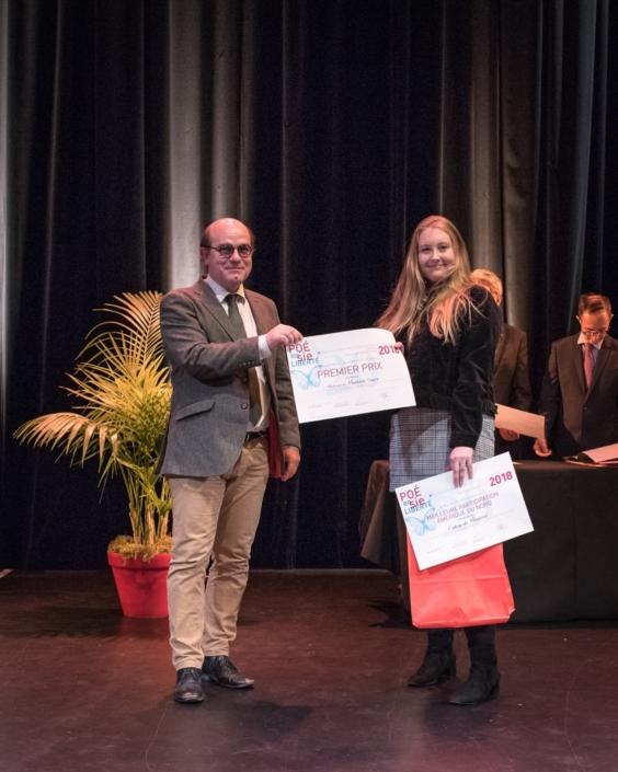 Bernard Franco, Directeur au Cours de Civilisation française de la Sorbonne et Mathilde Sauvé, Collège de Montréal - (Canada), 1er prix des Secondes, Lycées de l'Etranger