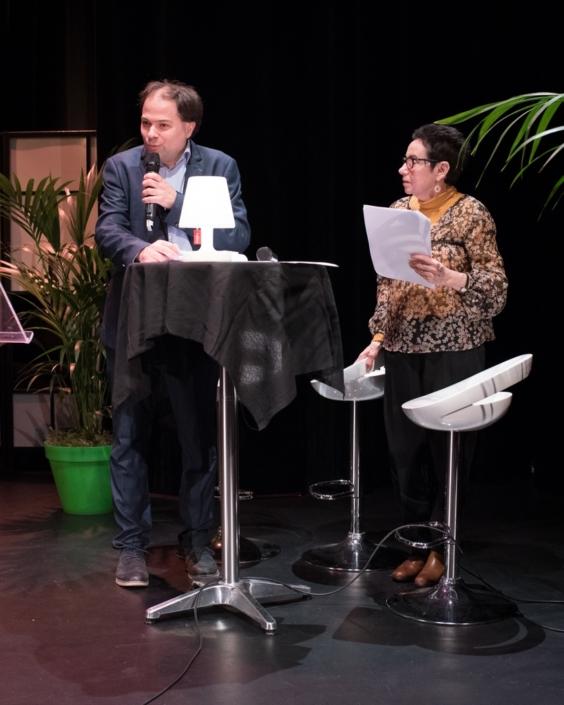 Matthias Vincenot et Nicole Simonet, Vice-Présidente d'honneur et Responsable du Jury