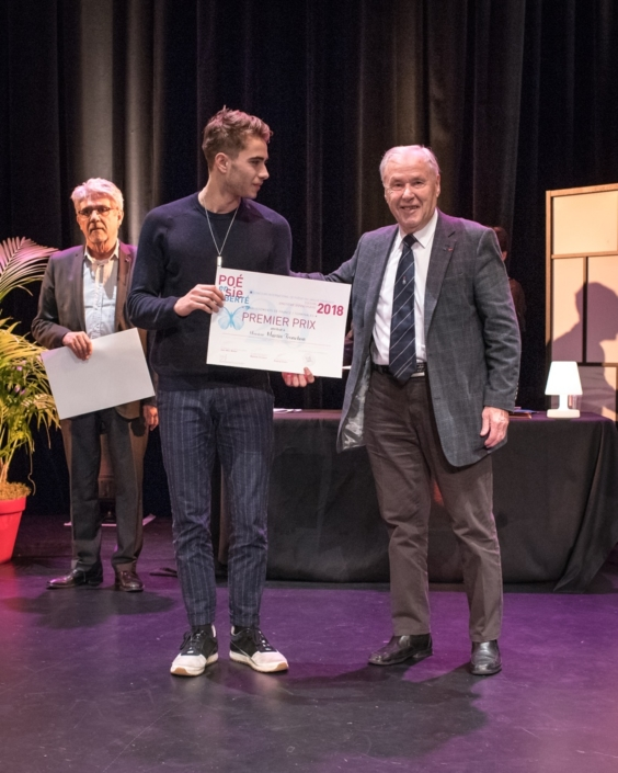 Martin Tronchon, Lycée Saint-Just - Lyon (69) 1er prix des Terminales et André Henry, ancien Ministre du Temps libre