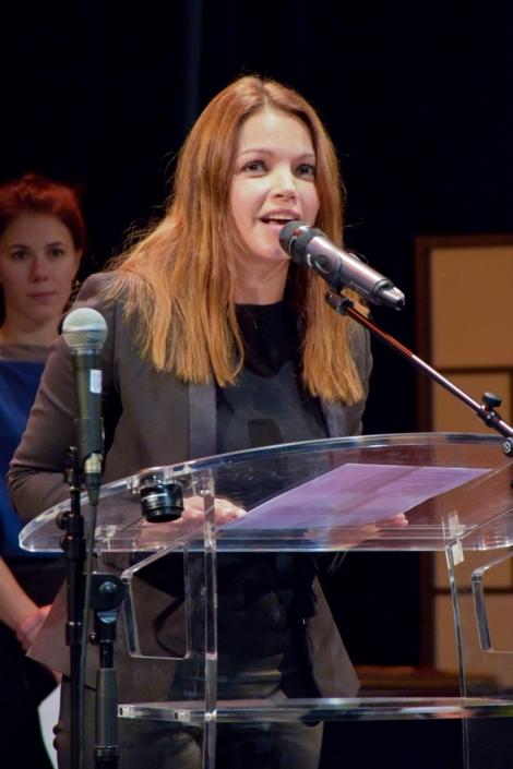 La comédienne Séverine Ferrer