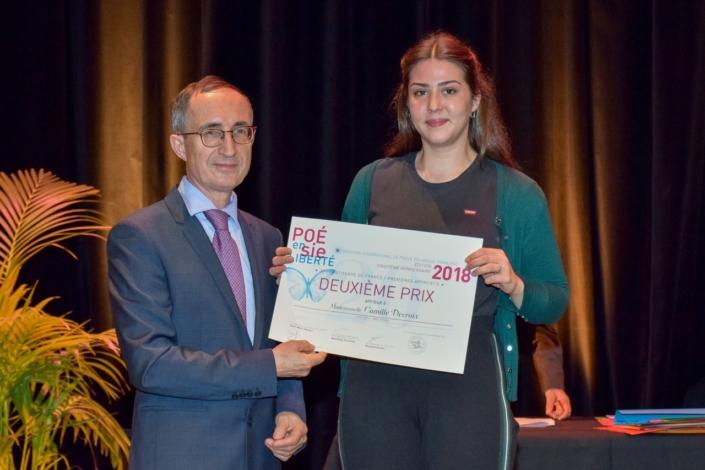 Gilles Tabard, Président-délégué et Camille Decroix,CFA Codis - Paris (75), 2ème prix des Apprentis en Première,