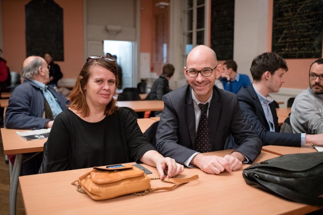 au centre, Didier Loison, Vice-Président Espéranto France