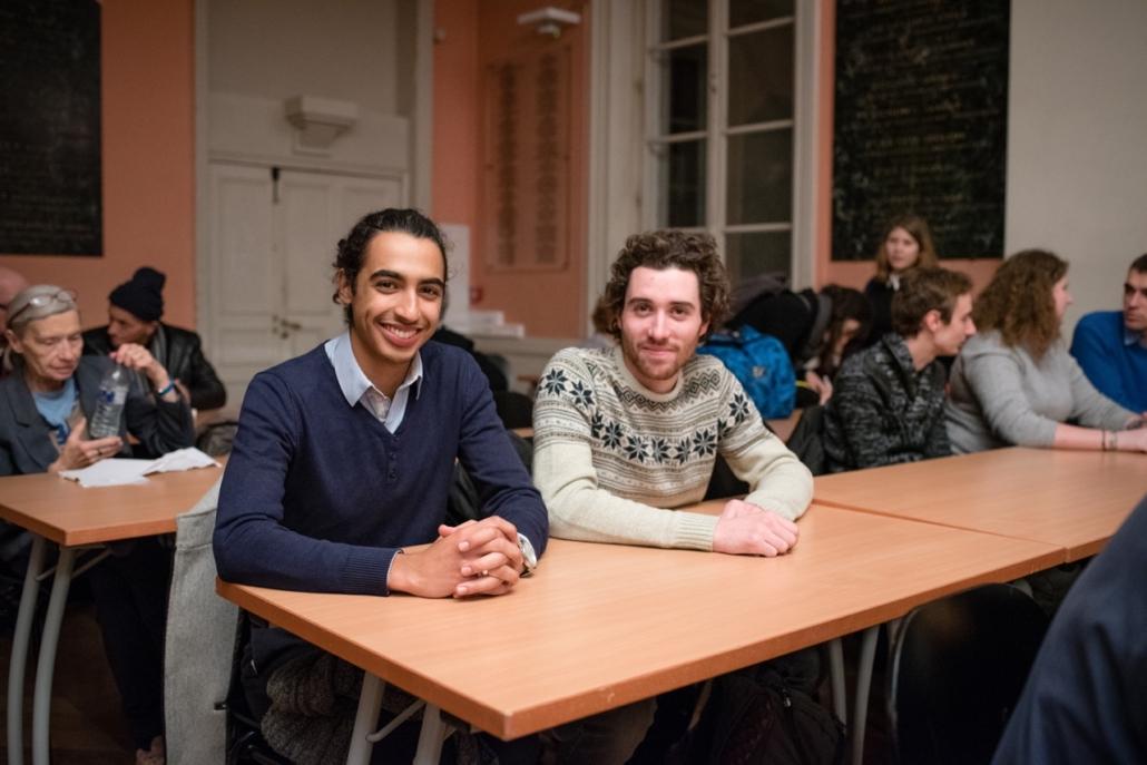 Nicolas Robert et Simon Allain, tous les deux lauréats et jurés