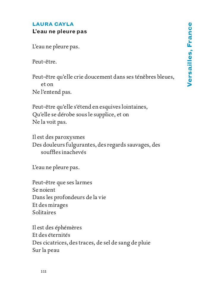 Leau Ne Pleure Pas Poésie En Liberté