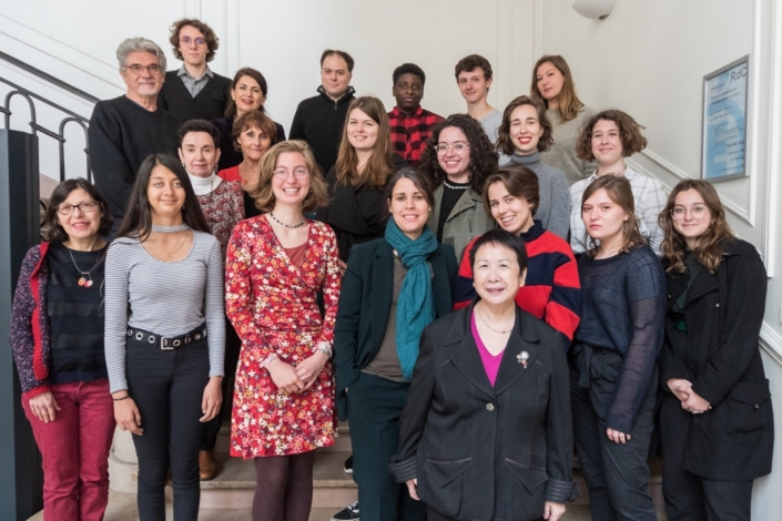 lundi 20 mai au ministère de l'éducation nationale et de la jeunesse, accueillis par Dominique Pince-Salem (tout en haut 3ème gauche)