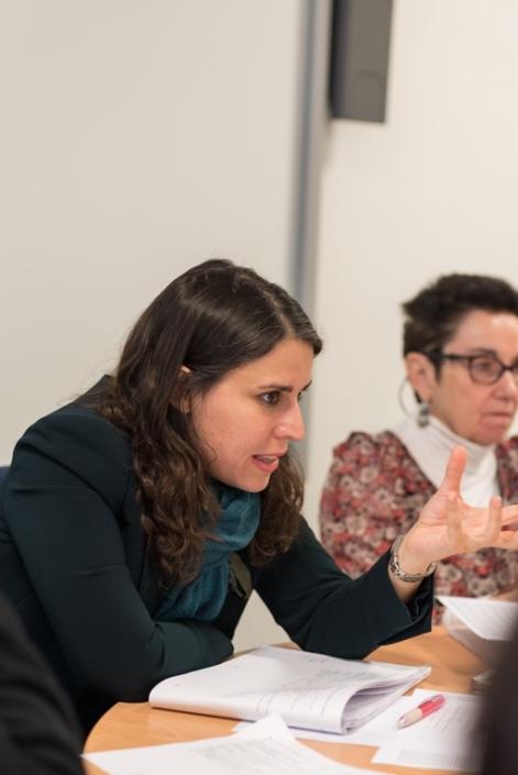 Adeline Baldacchino, avec à ses côtés Nicole Simonet