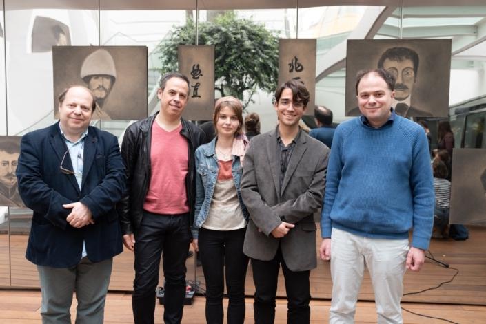 Eric Sivry, Jean-Luc Despax, Eva Pechova, Carlos Humberto Santos Chinchilla et Matthias Vincenot pour le Récital du Jury 2019