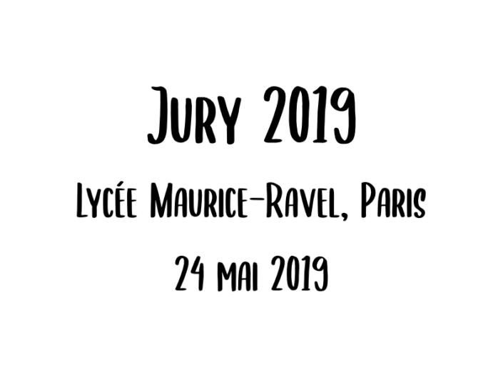 Jury 2019 - 24 mai 2019