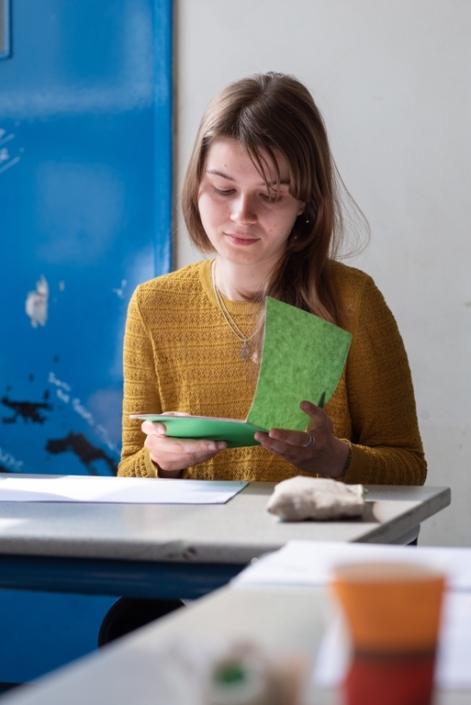 Eva Pechova, étudiante aux Beaux-Arts de Nîmes