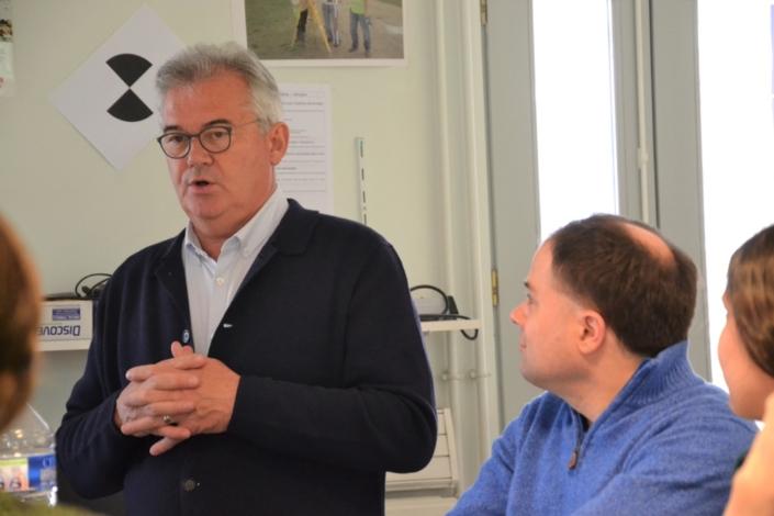 Daniel Gruat, Proviseur du Lycée Dorian et Vice-Président de Poésie en liberté