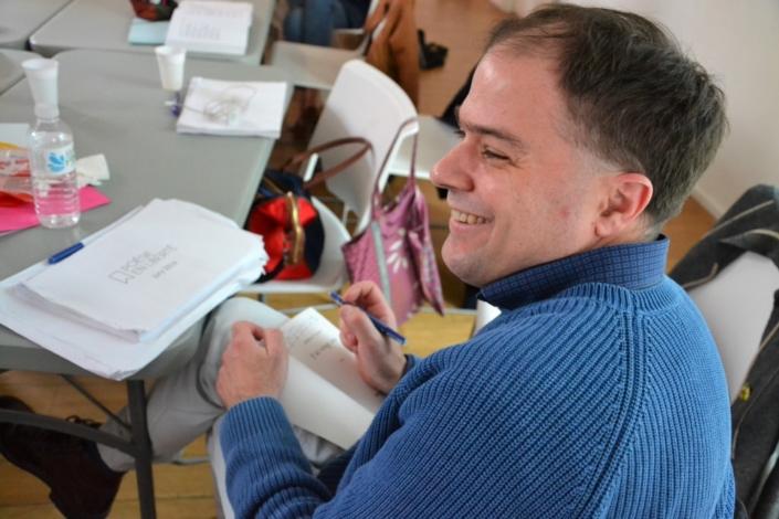 Matthias Vincenot en séance dédicaces