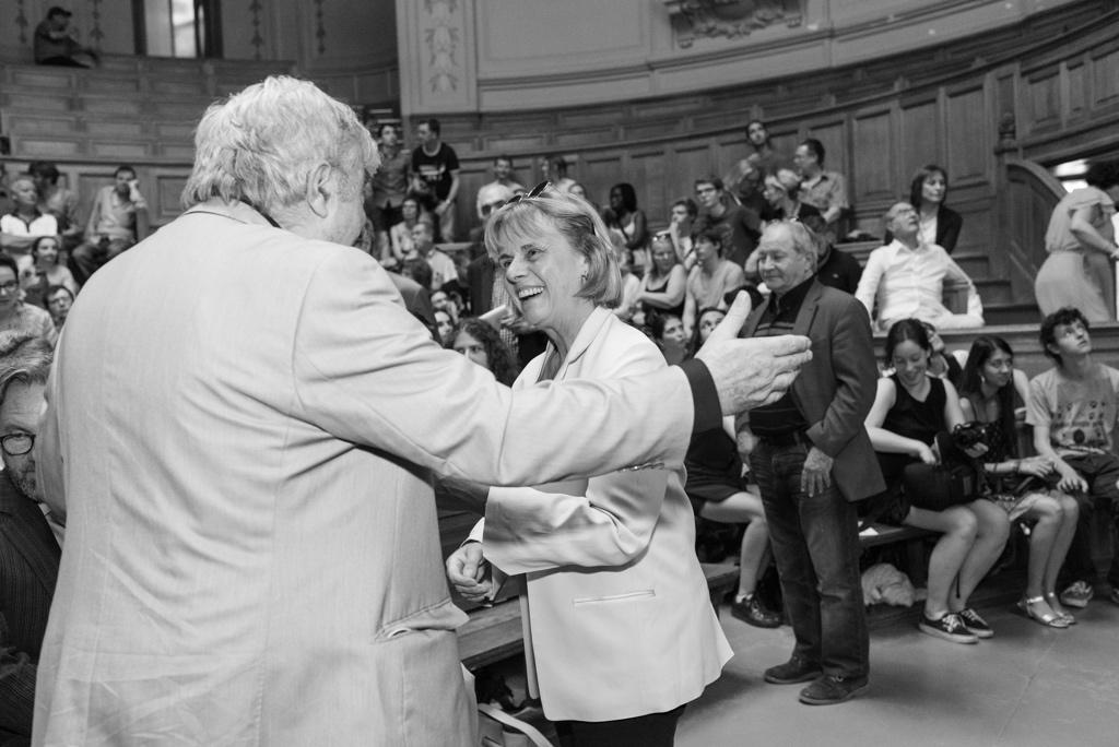 Jean-Marc Muller accueille Françoise Béziat, Directrice générale de la Fondation Jacques Chirac