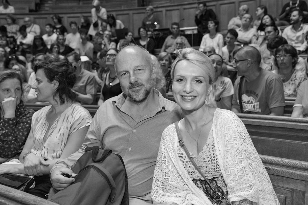 Des membres du Comité de lecture, Etienne Orsini (Président du Jury 2018) et Lison Mezzina