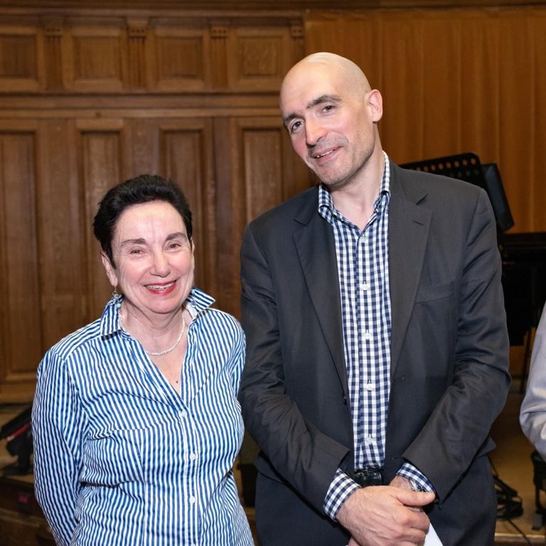 Nicole Simonet, Vice-Présidente d'honneur et Jean-Baptiste Dussert, Vice-Président