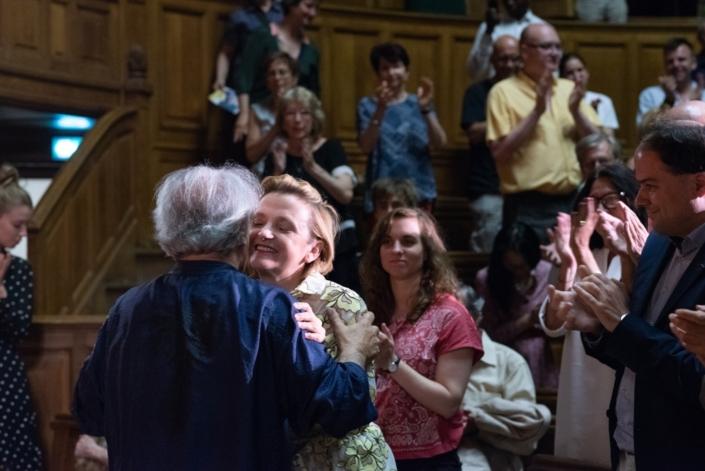 Florence Berthout, Maire du Vème félicite Hervé Vilard