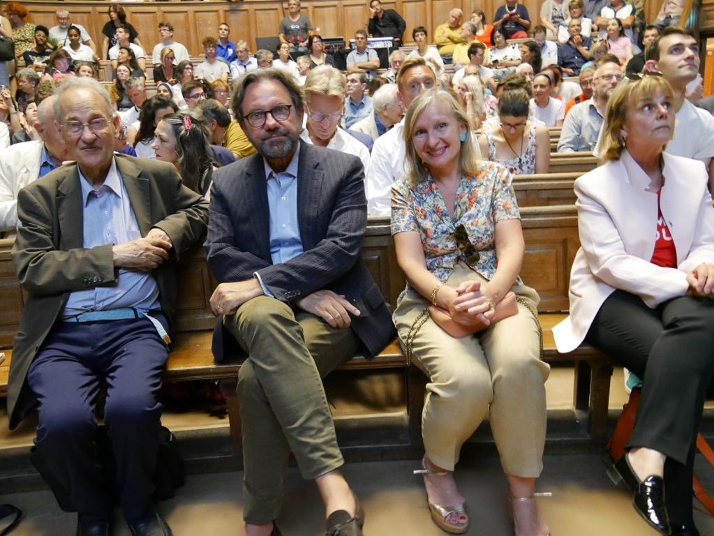 Pierre Brunel, Frédéric Lefebvre, Francine Girond et Françoise Béziat
