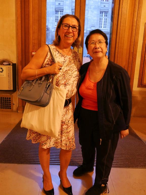 Florence Roudot, fidèle soutien de la Banque Populaire Rives de Paris et Yen Kuan