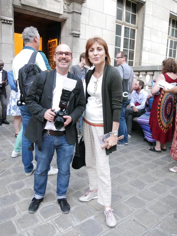 Le photographe Christian Baron et la Présidente du Jury 2017 Laurence Bouvet