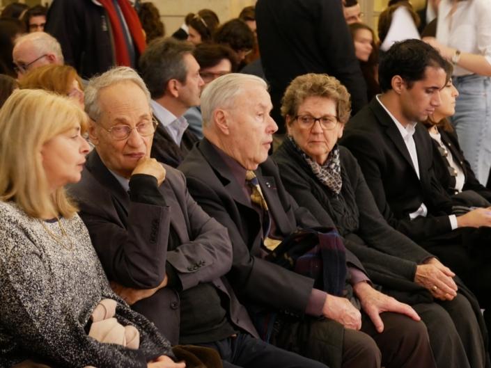 Danièle Lévinas, Pierre Brunel, Président d'honneur, André Henry, ancien ministre, membre du CH