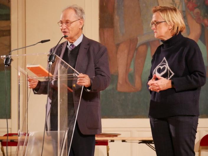 Pierre Brunel et Florence Berthout