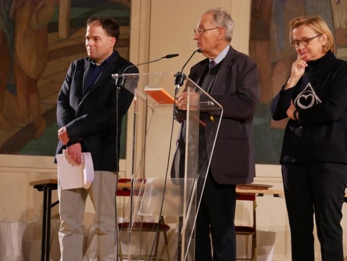 Matthias Vincenot, Pierre Brunel et Florence Berthout