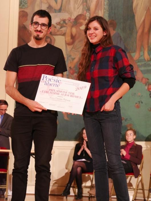 Corentin Dufourg et Pénélope-Rose Lévêque, comédienne et membre du CH