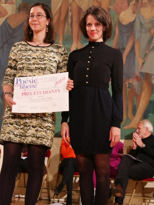 Cécile Cantat et Alexandra Oppo, comédienne