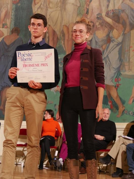 Vincent Grange et Margot Lourdet, comédienne