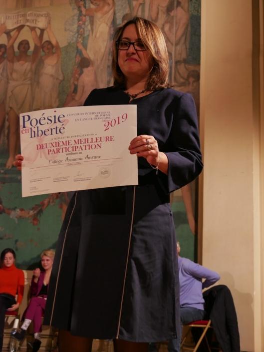 Lynda Aït Bachir, Déléguée générale, pour la Meilleure participation du Maghreb