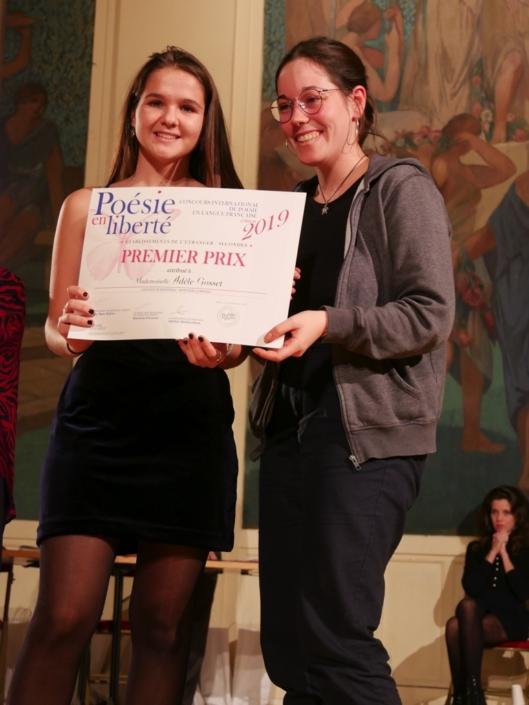 Adèle Gosset et Lisa Argento, membre du Comité de lecture et ancienne Jurée