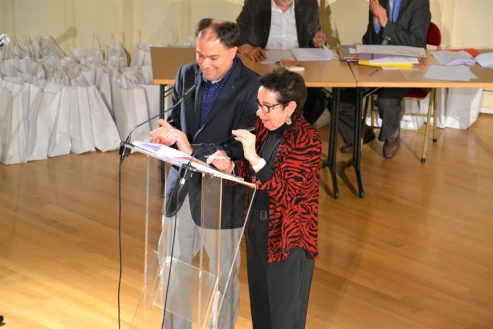 Matthias Vincenot, Directeur artistique et Nicole Simonet, Vice-Présidente d'honneur animent la soirée