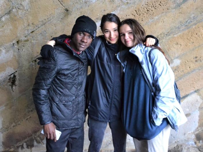 Niklovens Fransaint d'Haïti, Maya Berman et Adèle Gosset du Canada
