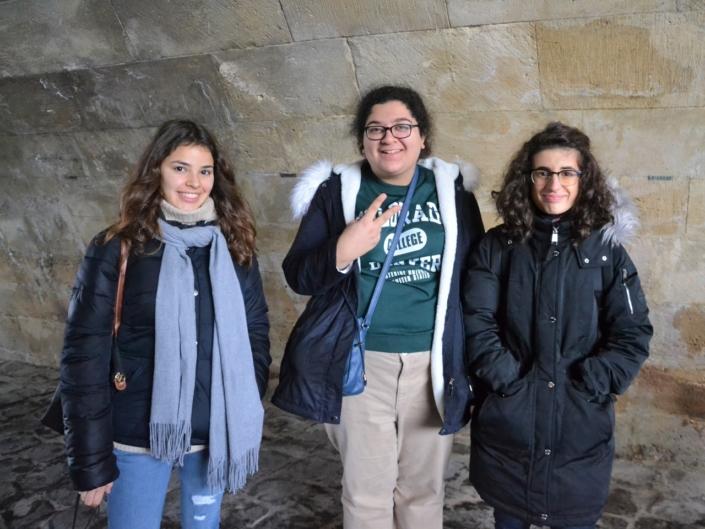 Lou Vicente d'Espagne, Lynn Touma, du Liban et Eline Convert de France