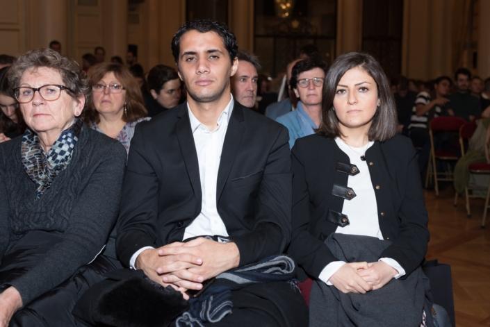 Zakaria Megghni, Attaché de communication, Ambassade d'Algérie et Eliane Ghanem Chebel : Chargée des affaires culturelles, Déléguée de l'Ambassadeur du Liban
