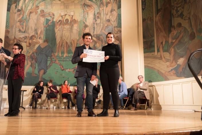 Ghjuvan Francescu Luciani et Rozenn Bartra, de la Direction des Affaires Culturelles de la Ville de Paris