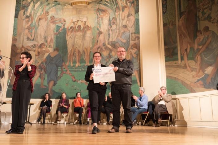 Marie Defontaine et Eric Dubois, poète, écrivain, directeur de la revue « Le capital des Mots »