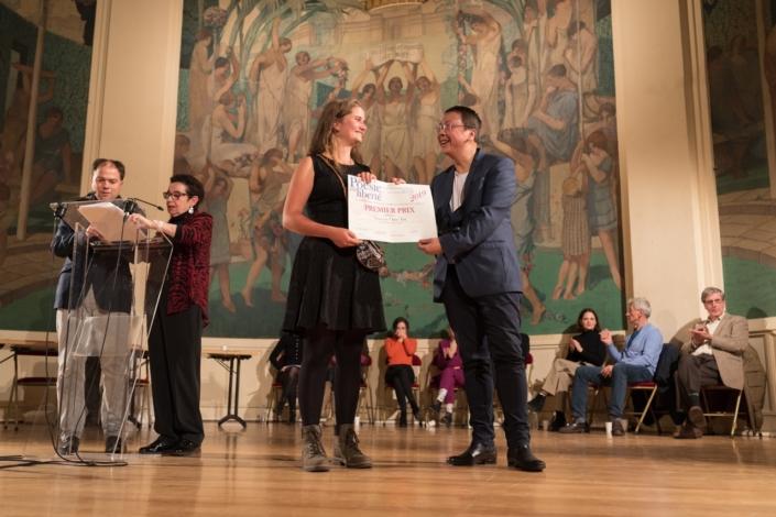 Claire Jehl et Guy Kuan, Directeur financier de Poésie en liberté