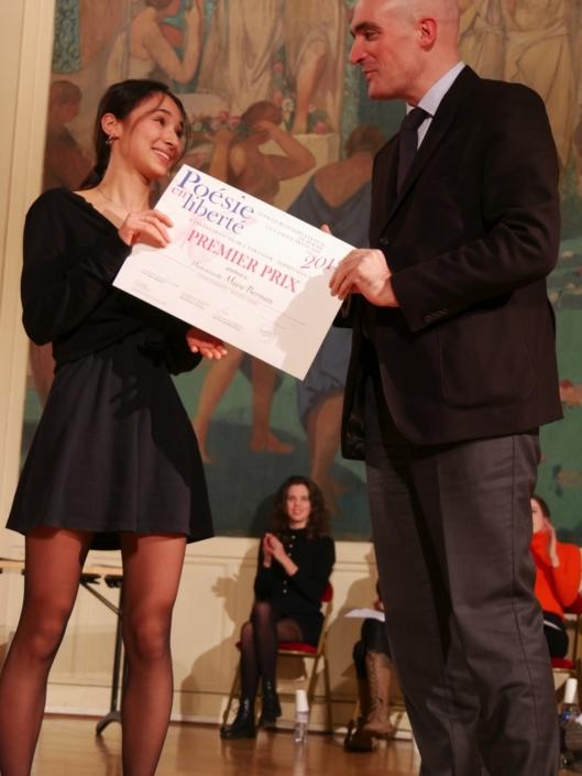 Maya Berman et Jean-Baptiste Dussert, vice-Président de Poésie en liberté