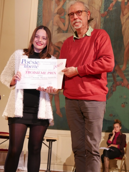 Chrysoula Marinou-Stamatelou et Pierre Kobel des Editions Bruno Doucey