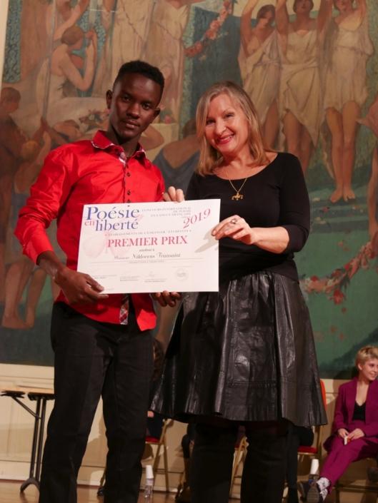 Niklovens Fransaint et Francine Girond, éditrice et Membre du CH