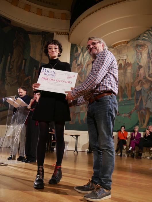 Elena Cisternas et Olivier Jacquet, Responsable technique du Service Culturel de Sorbonne Université
