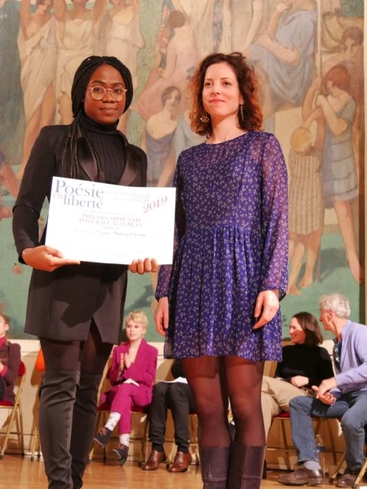 Corine Andréa Owona et Maïa Brami, poète, membre du Comité de lecture