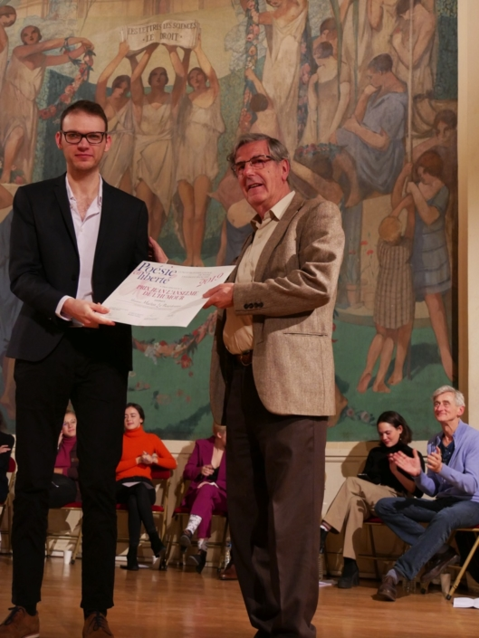 Maëlan Le Bourdonnec et Bernard Menez, comédien, membre du CH