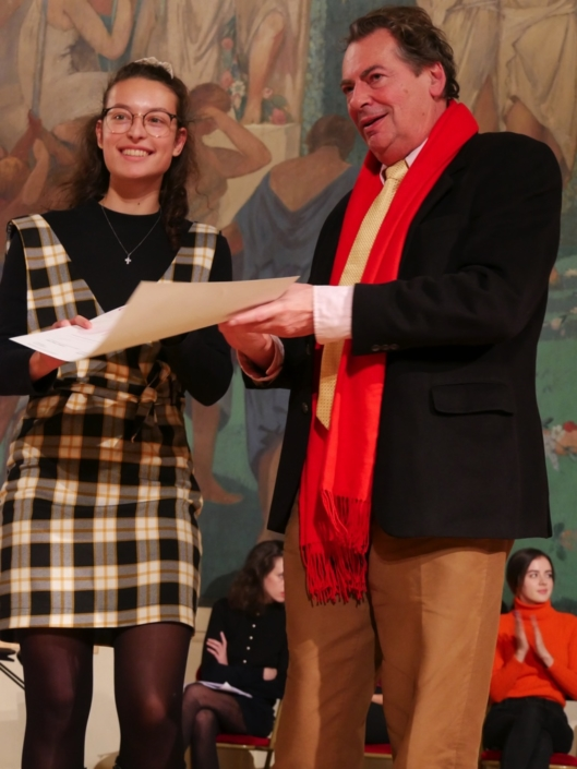 Jeanne Roux et Jean-Marc Ferry, Professeur à l'Université de Nantes, membre du CH