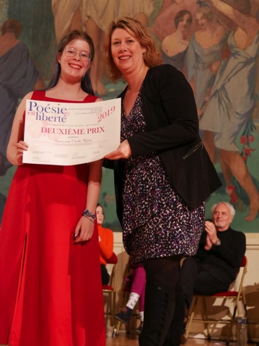 Cécile Klein et Mélanie Dumont-Torrès, Cheffe de projet, administratrice de Poésie en liberté et sa Famille d'accueil