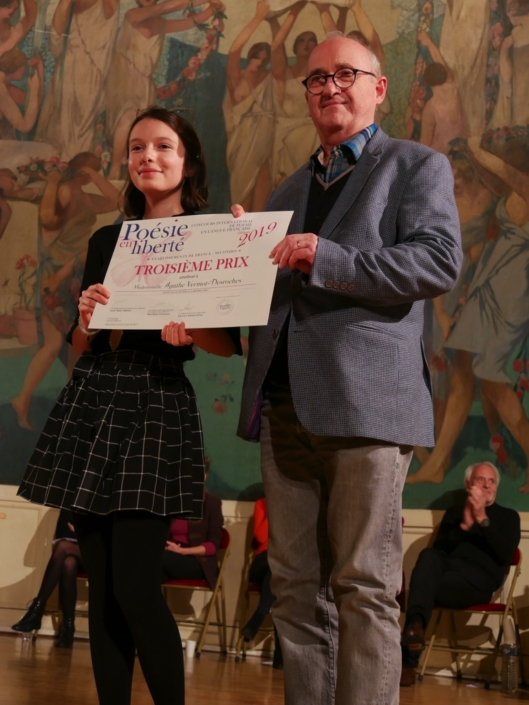 Agathe Vermot-Desroches et André Prodhomme, Poète, Président de Jury 2013 et Membre du Comité de lecture