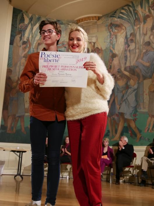 Romain Rotrou et MOrisse, auteure compositrice interprète, membre du Comité de lecture, ancienne lauréate et jurée du concours
