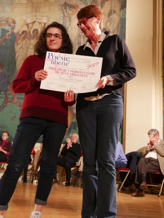 Eline Convert et Catherine Baroso, membre de l'équipe et famille d'accueil