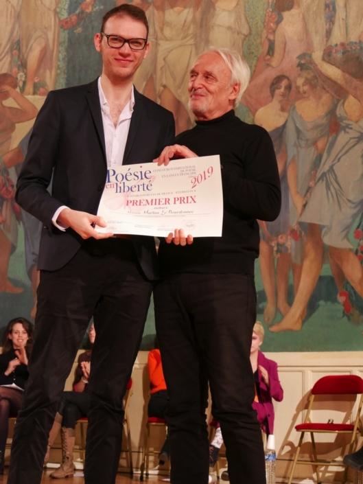 Maëlan Le Bourdonnec et Didier Flamand, comédien